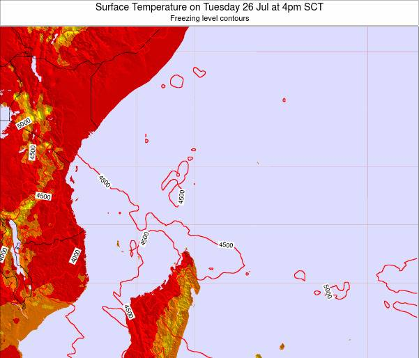Seychelles Surface Temperature on Thursday 30 May at 10pm SCT