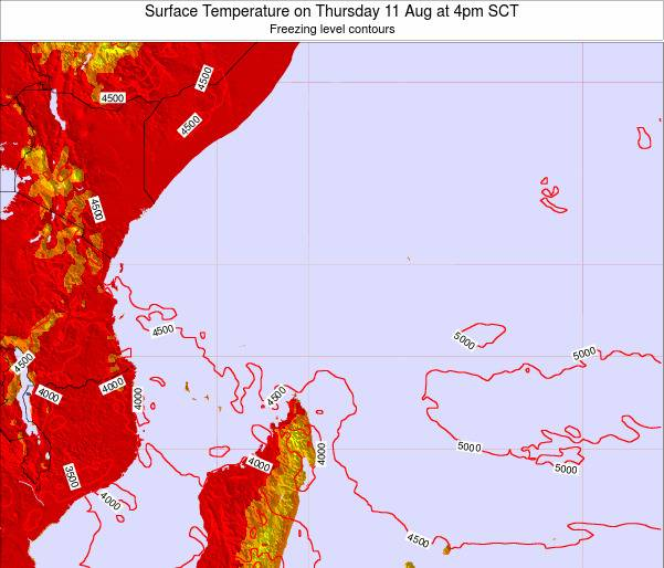 Seychelles Surface Temperature on Sunday 22 Oct at 10pm SCT
