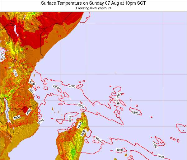 Seychelles Surface Temperature on Thursday 05 May at 10pm SCT
