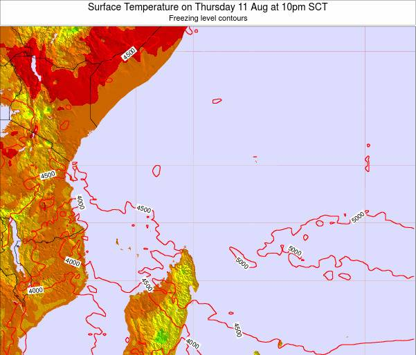 Seychelles Surface Temperature on Wednesday 30 Apr at 10am SCT
