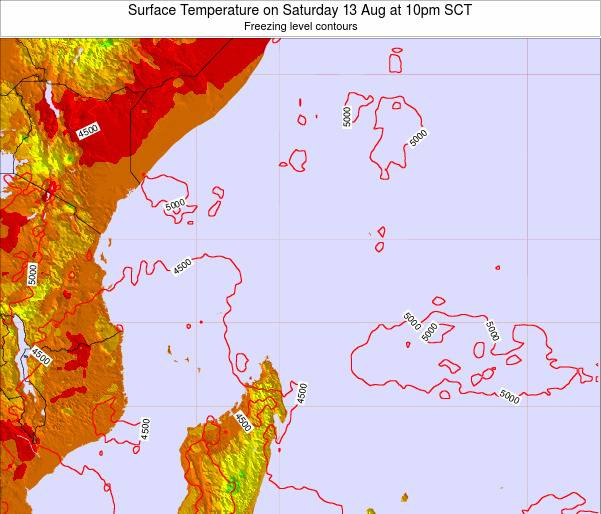 Seychelles Surface Temperature on Saturday 01 Nov at 4am SCT