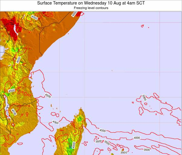 Seychelles Surface Temperature on Monday 16 Dec at 10am SCT