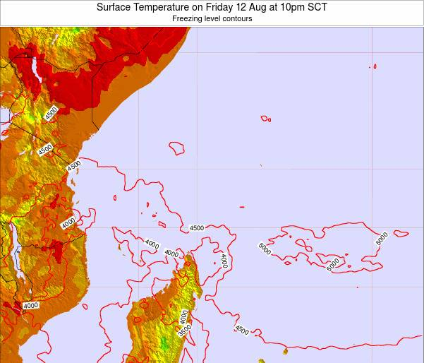 Seychelles Surface Temperature on Tuesday 05 Aug at 4pm SCT