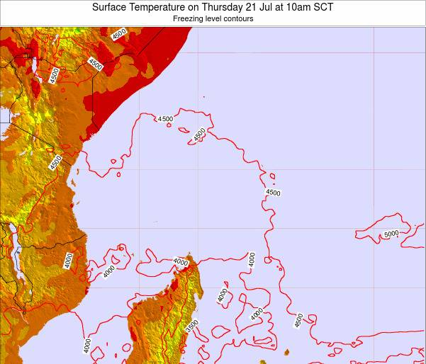 Seychelles Surface Temperature on Thursday 24 Apr at 4am SCT