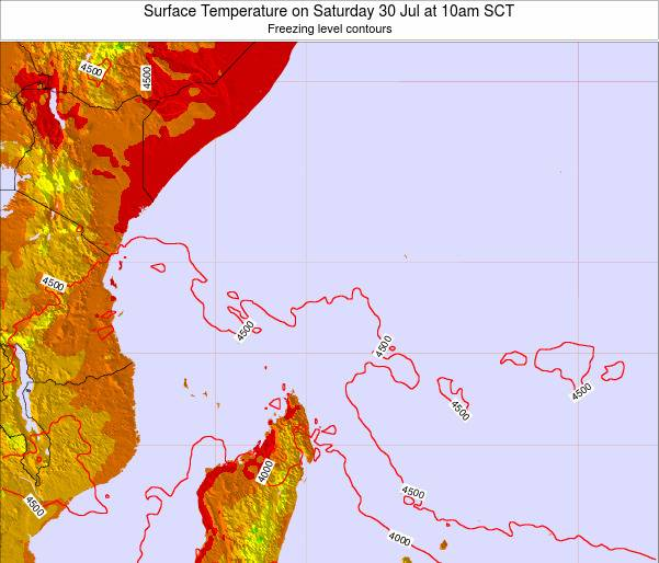 Seychelles Surface Temperature on Sunday 01 Oct at 4am SCT