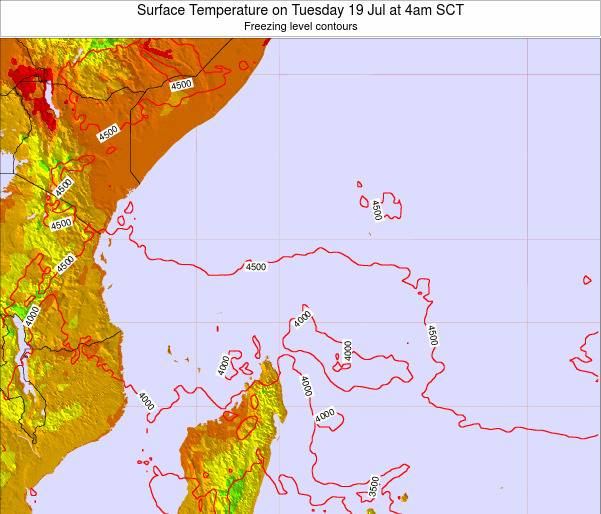 Seychelles Surface Temperature on Sunday 04 Jun at 10am SCT