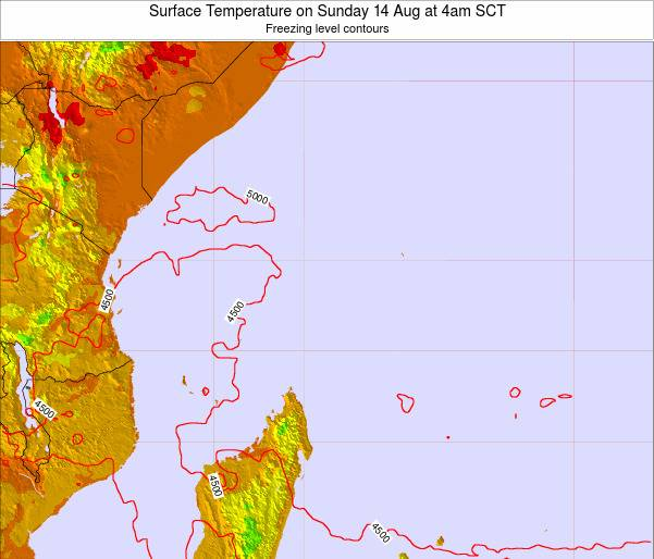 Seychelles Surface Temperature on Friday 25 Apr at 10pm SCT