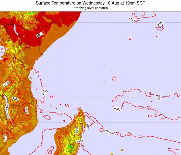 Seychelles Surface Temperature on Wednesday 03 Sep at 4pm SCT