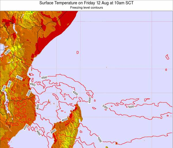 Seychelles Surface Temperature on Saturday 29 Apr at 10am SCT