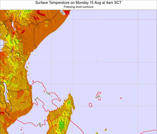 Seychelles Surface Temperature on Thursday 01 May at 4am SCT