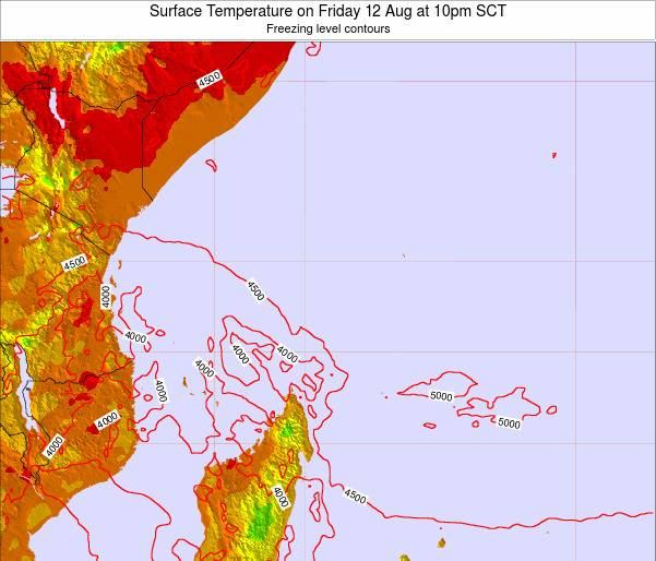 Seychelles Surface Temperature on Monday 16 Dec at 4am SCT