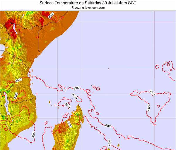Seychelles Surface Temperature on Wednesday 06 Aug at 10pm SCT