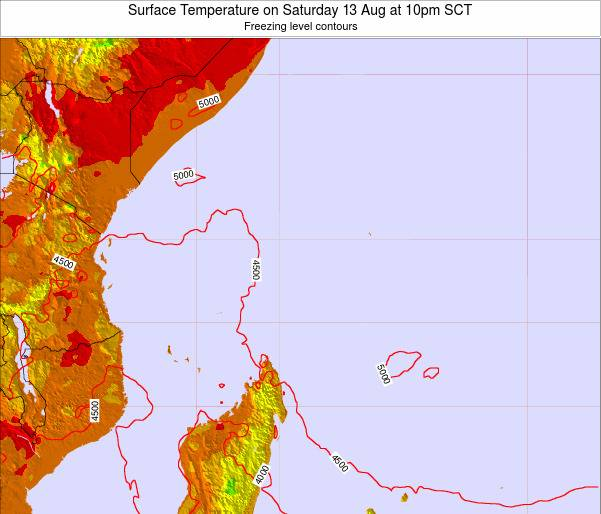 Seychelles Surface Temperature on Monday 28 Jul at 4pm SCT