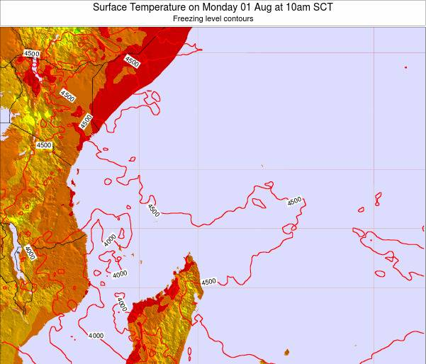Seychelles Surface Temperature on Tuesday 06 Dec at 4pm SCT
