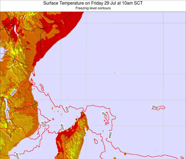 Seychelles Surface Temperature on Friday 01 Jul at 10am SCT
