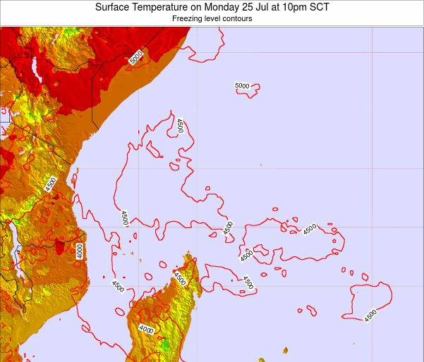 Seychelles Surface Temperature on Tuesday 04 Aug at 10am SCT