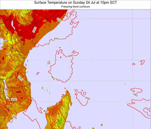 Seychelles Surface Temperature on Friday 25 Apr at 4am SCT