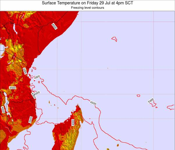 Seychelles Surface Temperature on Friday 18 Apr at 4am SCT