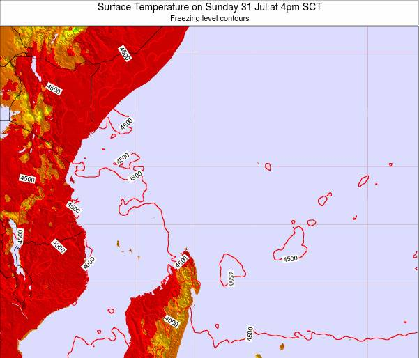 Seychelles Surface Temperature on Monday 09 Dec at 10pm SCT