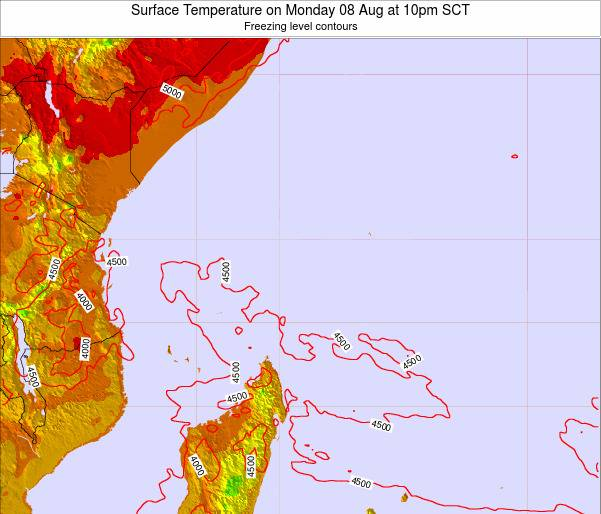 Seychelles Surface Temperature on Friday 24 Mar at 10am SCT