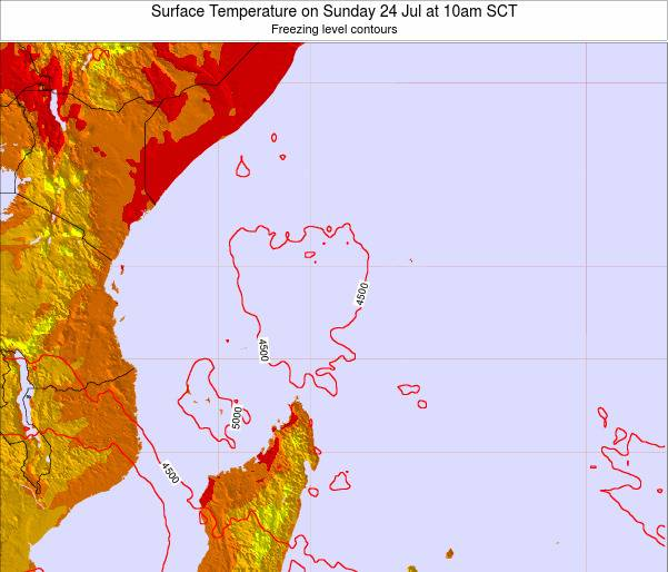 Seychelles Surface Temperature on Wednesday 23 Apr at 4pm SCT