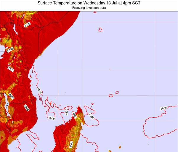 Seychelles Surface Temperature on Wednesday 22 May at 10pm SCT