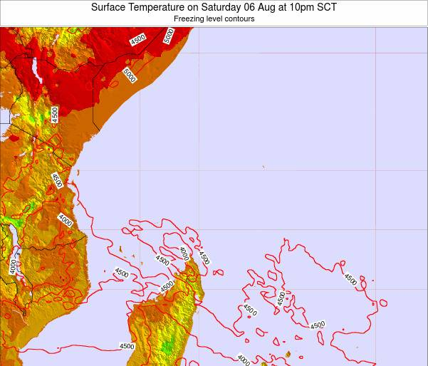 Seychelles Surface Temperature on Saturday 19 Apr at 4am SCT