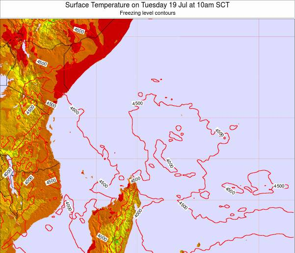 Seychelles Surface Temperature on Thursday 31 Jul at 10pm SCT