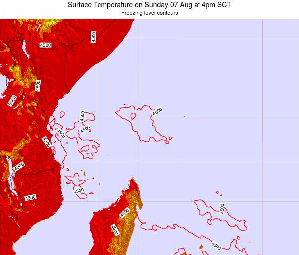 Seychelles Surface Temperature on Sunday 27 Apr at 4pm SCT