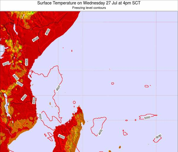 Seychelles Surface Temperature on Wednesday 12 Mar at 4pm SCT