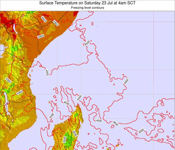 Seychelles Surface Temperature on Thursday 29 Jun at 10pm SCT