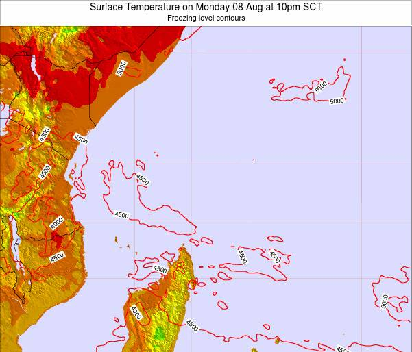 Seychelles Surface Temperature on Wednesday 07 Oct at 4pm SCT