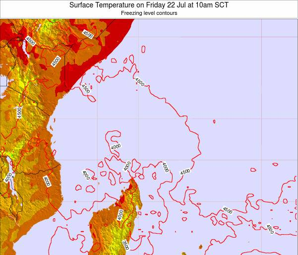 Seychelles Surface Temperature on Friday 13 Dec at 4pm SCT