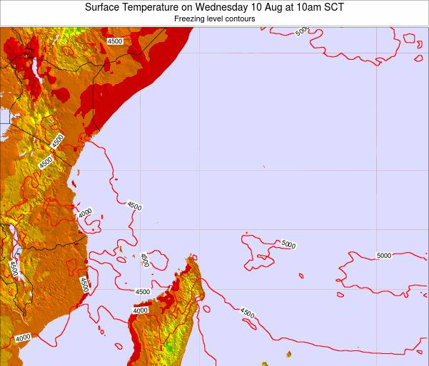 Seychelles Surface Temperature on Wednesday 23 Apr at 10pm SCT