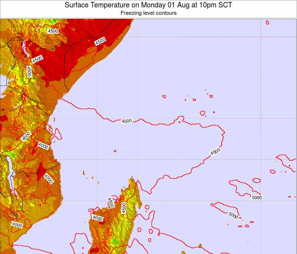 Seychelles Surface Temperature on Saturday 04 Apr at 10pm SCT