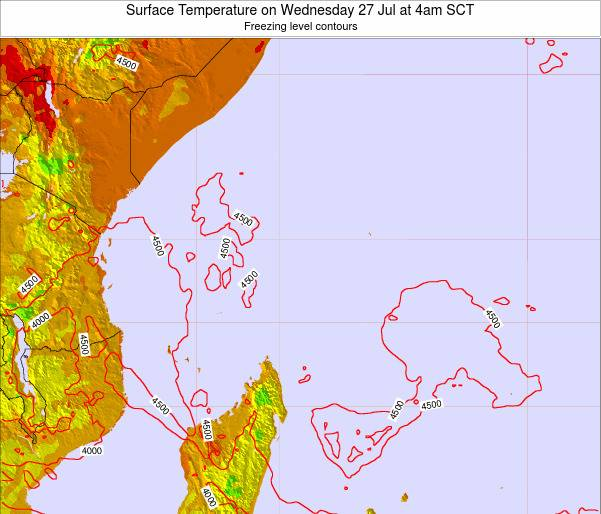 Seychelles Surface Temperature on Thursday 27 Nov at 4pm SCT