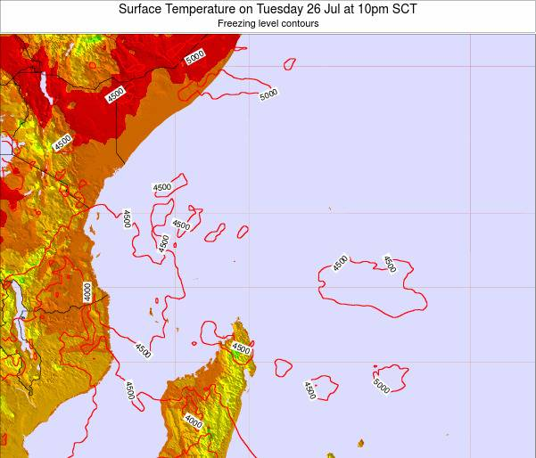 Seychelles Surface Temperature on Friday 24 Oct at 4pm SCT
