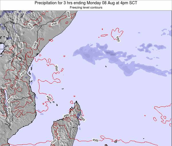 Seychelles Precipitation for 3 hrs ending Sunday 26 May at 4pm SCT map