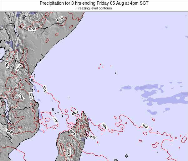 Seychelles Precipitation for 3 hrs ending Monday 27 May at 10pm SCT map