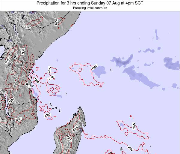 Seychelles Precipitation for 3 hrs ending Monday 20 May at 4pm SCT map