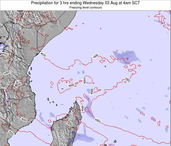 Seychelles Precipitation for 3 hrs ending Sunday 23 Jun at 10pm SCT map