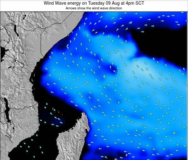 Seychelles Wind Wave energy on Friday 31 May at 10am SCT map