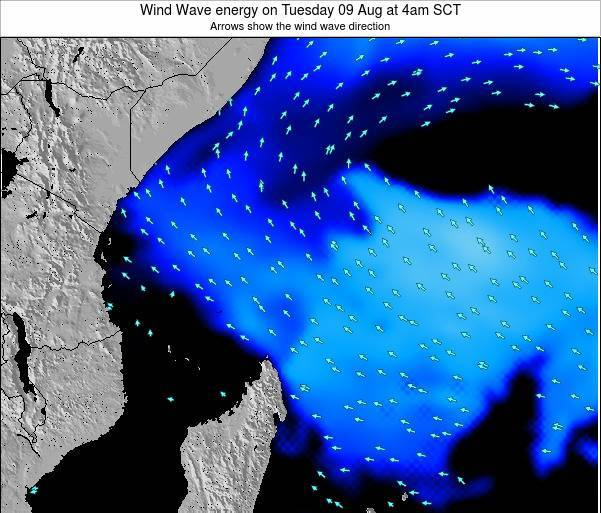Seychelles Wind Wave energy on Friday 28 Jun at 4pm SCT map