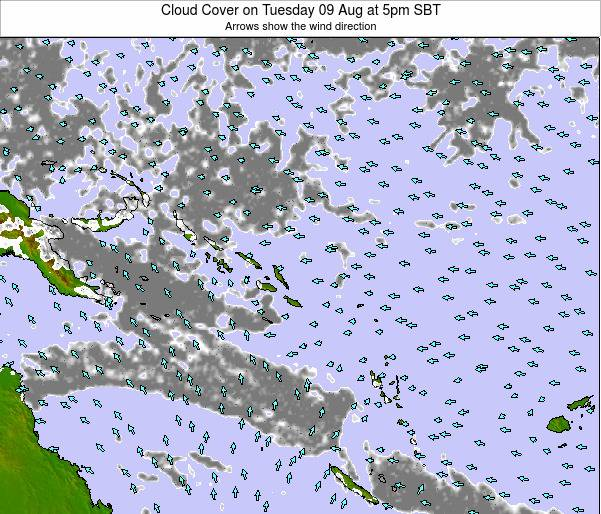 Solomon Islands Cloud Cover on Sunday 26 May at 5am SBT