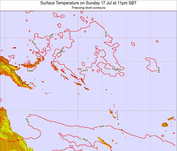 Nauru Surface Temperature on Friday 16 Nov at 5pm SBT map