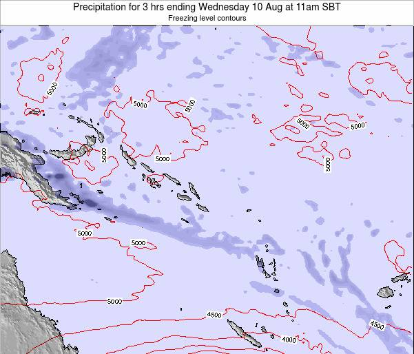 Solomon Islands Precipitation for 3 hrs ending Wednesday 23 Apr at 11pm SBT