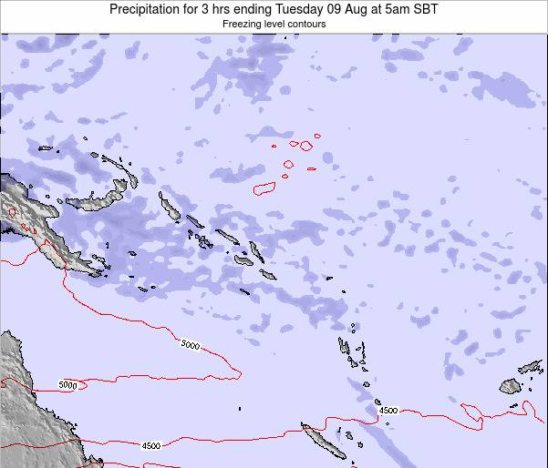 Solomon Islands Precipitation for 3 hrs ending Thursday 13 Mar at 11pm SBT