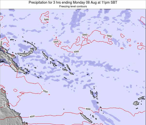 Solomon Islands Precipitation for 3 hrs ending Saturday 02 Aug at 5am SBT