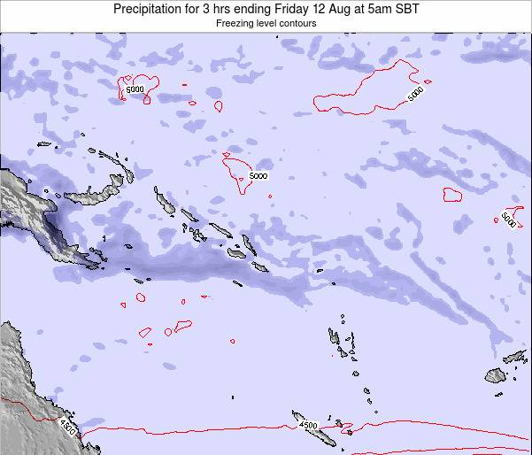 Solomon Islands Precipitation for 3 hrs ending Tuesday 29 Apr at 11pm SBT