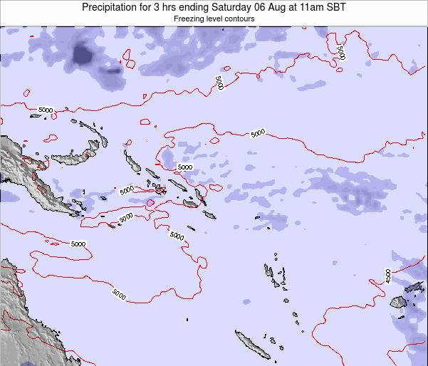 Solomon Islands Precipitation for 3 hrs ending Wednesday 12 Mar at 5pm SBT